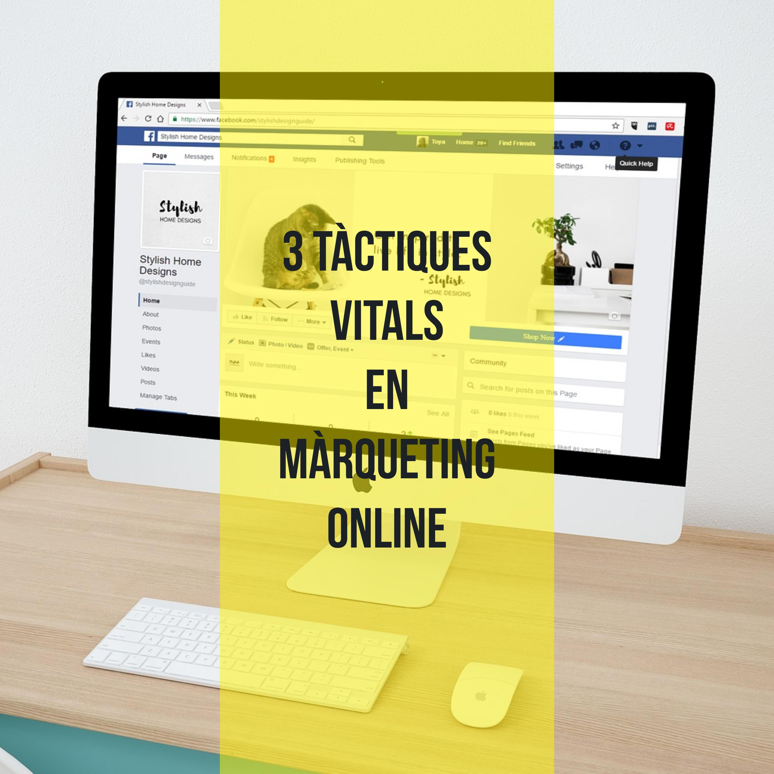 Les 3 tàctiques del màrqueting online